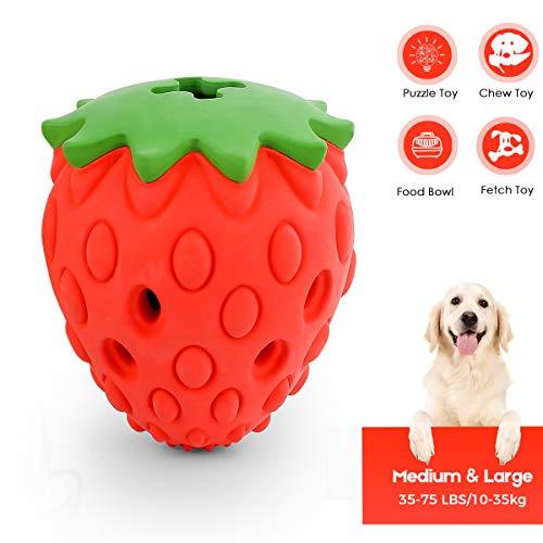 Beewarm Hundespielzeug Unzerstörbarer Erdbeerduft Ungiftige, bissresistente Hundekauspielzeuge Food...