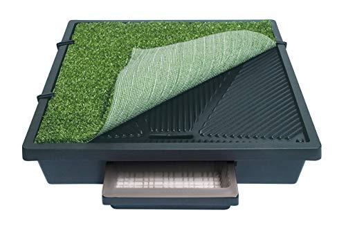 PetSafe Pet Loo mobile Haustiertoilette mit Kunstrasen M, 2 Liter Auffangbecken, 63 x 63 cm, für...