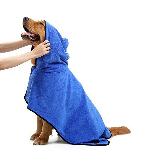 PET SPPTIES Mikrofaser Hundebademantel Feuchtigkeit absorbierende Ultra Soft Bademantel für Hunde Katzen...