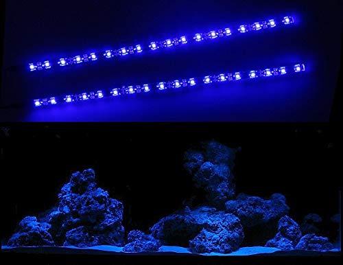 CREATIVE LIGHTS - AQUARIUM MONDLICHT 2 x 30 CM LED LICHTLEISTE KOMPLETTSET INKL. NETZTEIL FLEXI-SLIM BLAU