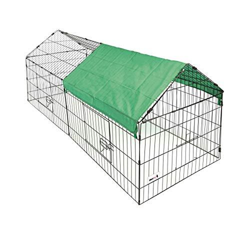 MaxxPet - Freigehege Für Kaninchen, Meerschweinchen & Andere Kleintiere - Sonnengeschütztes...