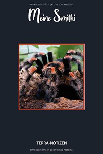Meine Smithi: Brachypelma Smithi, Rotknievogelspinne, Spinnentagebuch. Format ca. A5, 120 Seiten, fein...