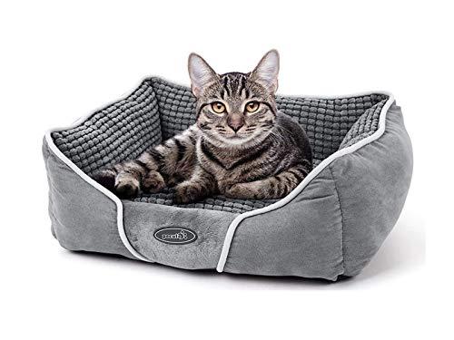 pecute Hundebett Haustierbett für Katzen und Hunde Rechteck Ultra Weicher Plüsch luxuriöse...