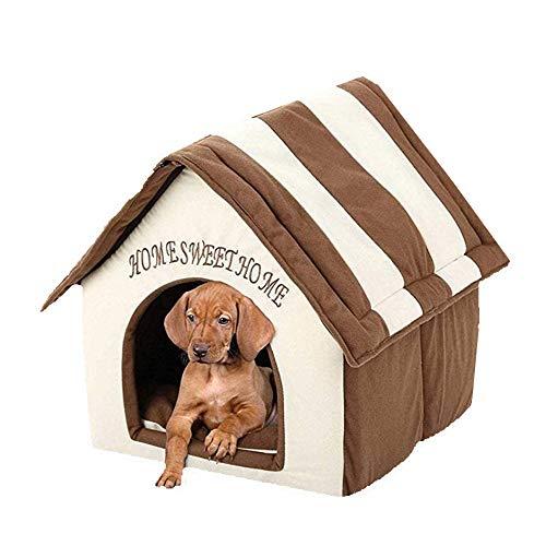 Queta Tragbares kleines Haustierhaus Weiches Bett, Indoor Waschbares Haustierhaus, Runde und Höhlenform...