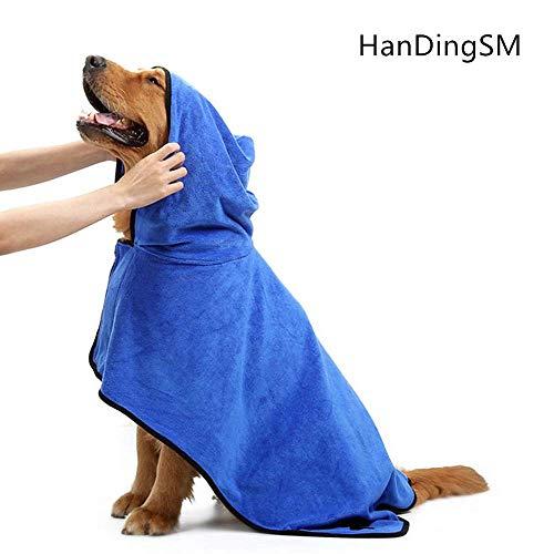 HanDingSM Hundebademantel, Haustier-Bademantel,Hunde-Bademantel, Mikrofaser...