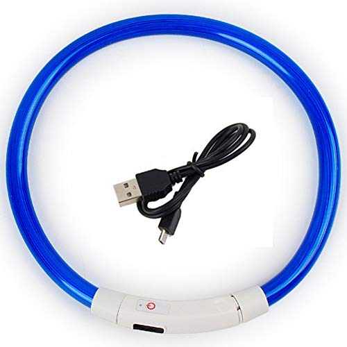 GREENTREEN LED Hundehalsband, LED Halsband für Hunde, Halsband Hund LED Leuchthalsband USB Aufladbar...
