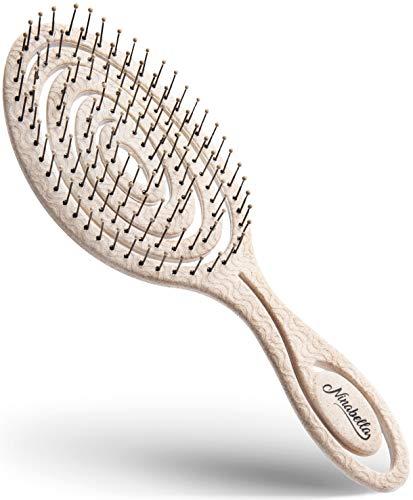 Ninabella® Bio Haarbürste ohne Ziepen, Profi Entwirrungsbürste, Einzigartige Detangler-Bürste mit...