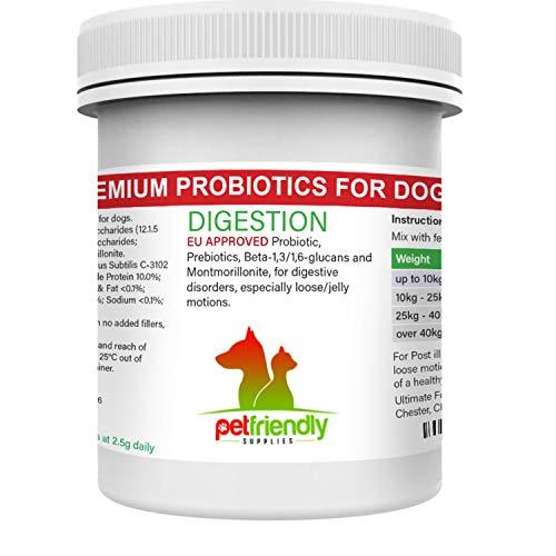 Probiotika für Hunde, Nahrungsergänzungsmittel sowie präbiotische Verdauungsenzyme, stärkt die...