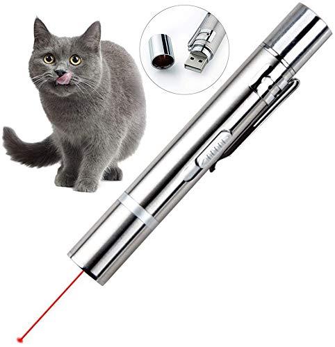 Queta Katzenspielzeug Set, LED Pointer Katzen Hund Spielzeug Haustier Interaktives Spielzeug für Katzen...