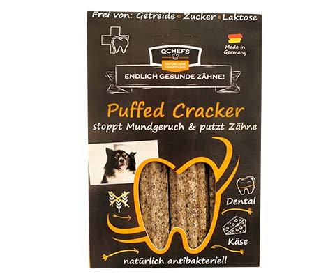 QCHEFS Puffed Cracker 3er |Hunde Zahnpflege-Snack|Kauknochen groß| Knochen gegen Mundgeruch &...