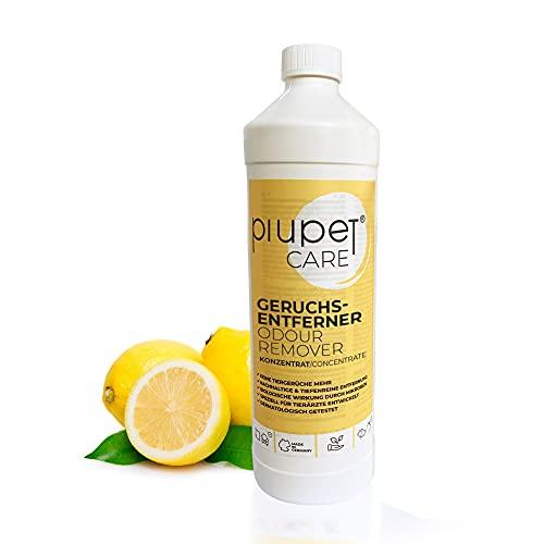 PiuPet® Geruchsentferner Konzentrat für Katzen und Hunde - Effektiver Geruchskiller - Katzenurin...