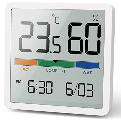 NOKLEAD Digitales Thermo-Hygrometer, Tragbares Thermometer Hygrometer Innen mit hohen Genauigkeit,...