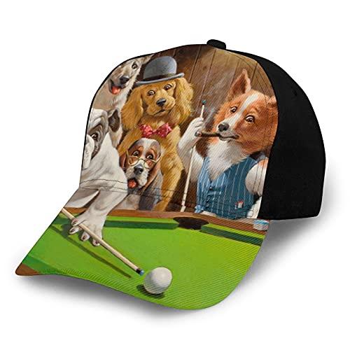 ZORIN Baseballkappe für Männer und Frauen, Hund, Billard, Party, Bulldogge, Schäferhund, schwarz,...