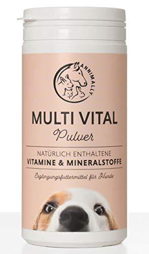 Annimally Vitamine für Hunde I Multivitamin Komplex Pulver für Hunde mit Mineralien 200g I Mit...