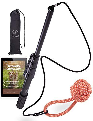 Tierhood ® Längenverstellbare Reizangel Hunde – max. Länge Rute 1.60m – für kleine & große Hunde...