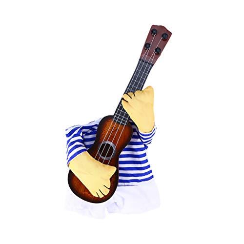 UEETEK Haustierbekleidung Lustige Sänger-Welpen-Kostüm-Hundekatze, die Gitarre spielt Fantastisches...