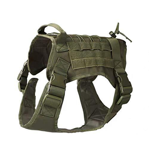 Delisouls Strategical No-Choke Hundegeschirr Service Weste, taktische verstellbare Arbeitshundeweste mit...