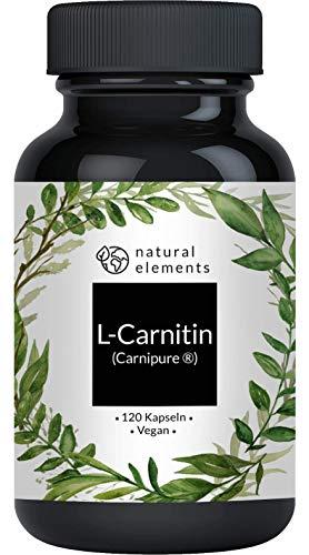 L-Carnitin 3000 - Premium: Carnipure® von Lonza - 120 Kapseln - Laborgeprüft, hochdosiert, vegan