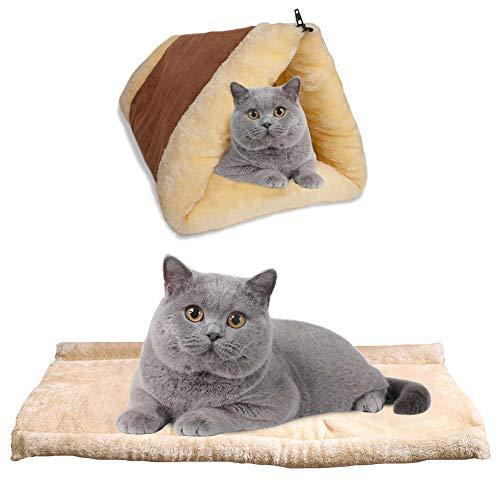 BRKURLEG Selbstheizende Decke für Katzen & Hunde, Größe: 90x59cm, Innovative & Umweltfreundliche...