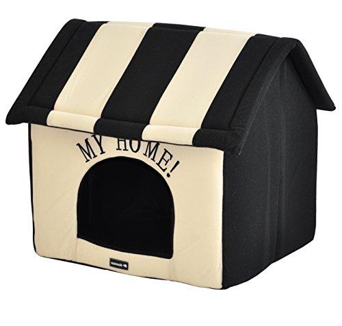 nanook Hundehaus Hundehöhle Adrian Größe L schwarz beige