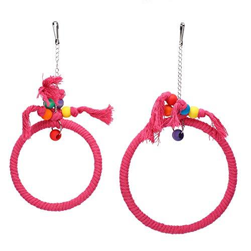 Jenngaoo Baumwollseil Papageienspielzeug, Vogelschaukel Hängering Klettern Kauen Beißendes Spielzeug...