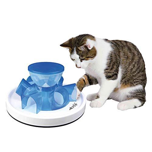 Trixie Cat Activity Tunnel Feeder, Mehrfarbig (kastanienbraun / weiß)