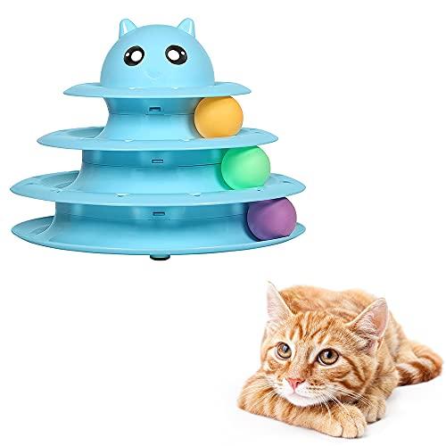 Katzenspielzeug Befitery Interaktives Spielzeug Dreifache Kugelbahn Beschäftigung Trainingsgerät...