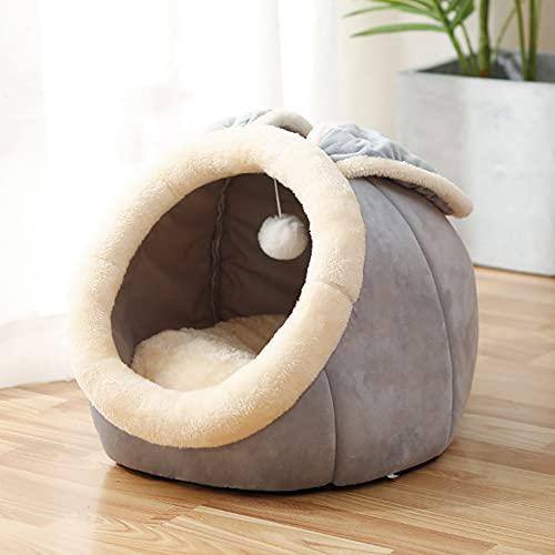 laamei Katzenhöhle für Katzen, Kitten, kleine Hunde & Welpen, Haustier Nest Entfernbar Katzenhaus Soft...