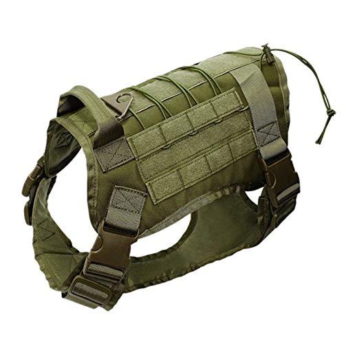 AiKoch Einstellbare Tactical-Service-Hundeweste Training Jagd Nylon Military Patrol Hundegeschirr Mit...