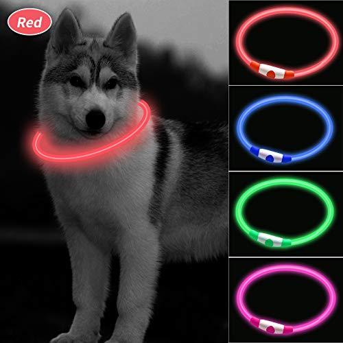 CCWW LED Leuchthalsband für Hunde USB Aufladbar LED Hundehalsband Stück hundehalsband Leuchtend...
