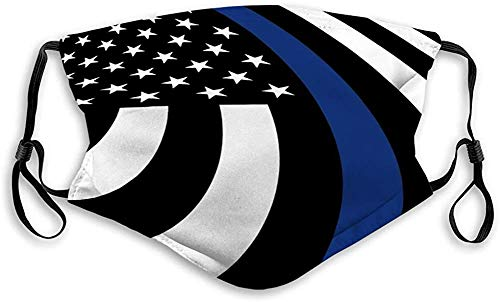 Greneric Amerikanische Flagge Symbol der Unterstützung für Strafverfolgung Staub Bandanas schützen mit...