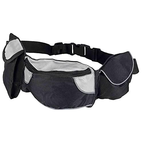 Trixie 3237 Dog Activity Hüfttasche Baggy Belt, Gurt: 62–125 cm, schwarz/grau