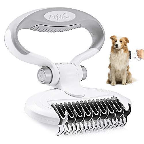 CestMall Hundebürste & Katzenbürste Fellpflege Hund, Unterfellbürste Entfilzungsstriegel für Hunde &...
