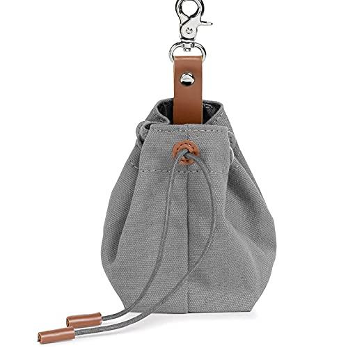 Foairs Leckerli-Beutel für Hunde, Futteraufbewahrung für Hundetraining, Schrumpftaschen Design mit Clip...