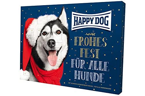 Happy Dog 9000963 - Adventskalender für Hunde - Weihnachtskalender mit 24 getreidefreien Hunde-Keksen...