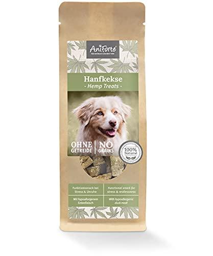 AniForte Hanfkekse für Hunde 200g – Natürliches Beruhigung & Entspannung, Hanf bei Stress & Angst,...