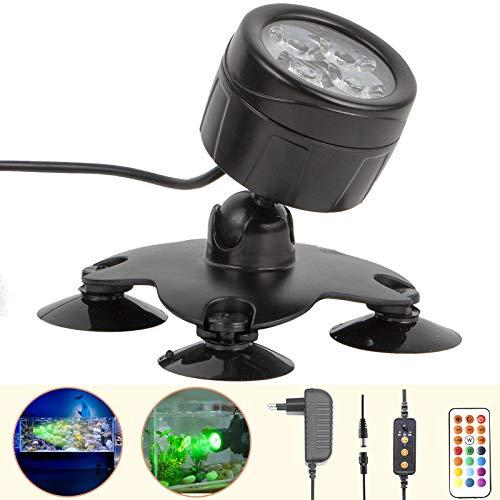 GOESWELL LED Aquarium Beleuchtung,Mondlicht Aquarium Lampe,Dimmbare Fische Aquarium Light mit...