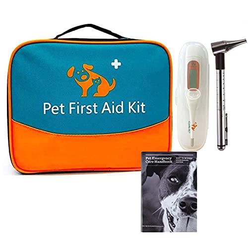 Erste Hilfe Set für Haustiere, tierärztliche Erste-Hilfe-Tasche für Hunde, Katzen, Kaninchen, Tiere,...