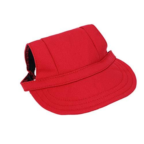 POPETPOP Popetopop Hut für Hunde, Baseballkappe für Hunde, verstellbar, mit Ohrlöchern,...