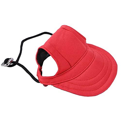 Pinsofy Hunde-Baseball-Mütze, Bequeme Sonnenschutz-Haustier-Sportmütze mit Ohrlöchern für kleine...