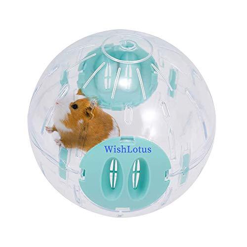 WishLotus Hamsterball, 14cm Transparent Hamsterrad Laufkugel für Hamster & Mäuse Plastik Spielzeug...