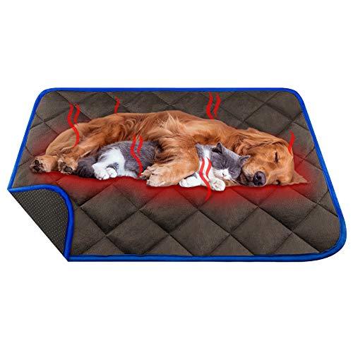ORIMIO Selbstheizende Decke für Katzen und Hunde 90x60cm, Waschbare Große Wärmematte, Innovative...