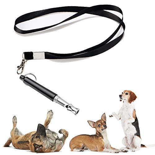 DunYi Hundepfeife, um Bellen zu stoppen, Upgrade, Ultraschall, Edelstahl, Hunde-Trainingspfeife, leises...