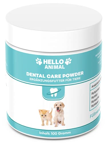 Hello Animal DENTAL Pulver für Hunde und Katzen – Zahnreinigung und Zahnpflege Zahnsteinentferner auch...