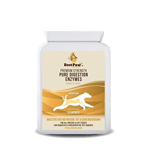 Best Paw Nutrition Verdauungsenzyme für Hunde & Katzen - Hilft bei Verdauungsstörungen und Stuhlverlust...