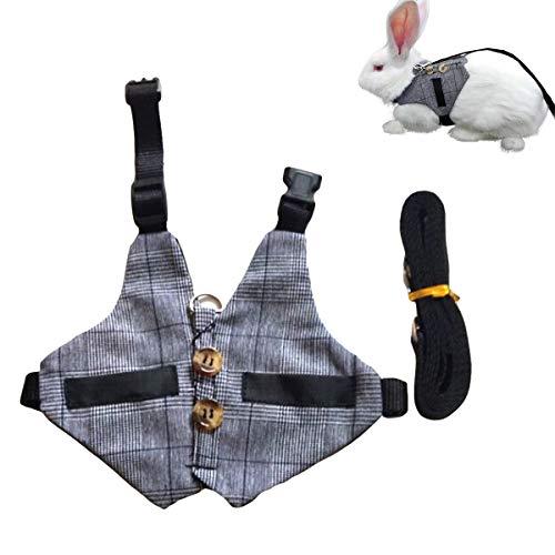 Hinzonek Kaninchen Formelle Anzug Geschirr Leine Set Hochzeit Wanderleine Geschirr mit Knopf Dekor für...