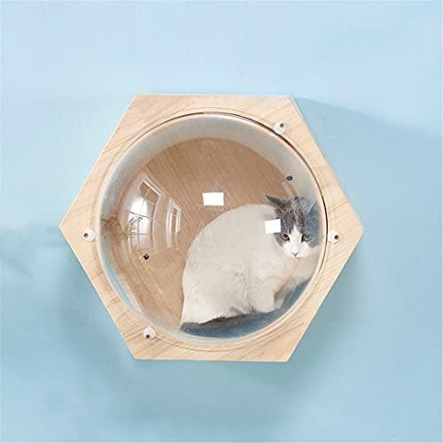 AYDQC Wandmontierte Katzen Kletterrahmen Katzen Baum Sechseckige Weltraumkapsel Katzen Wand Spielhaus...