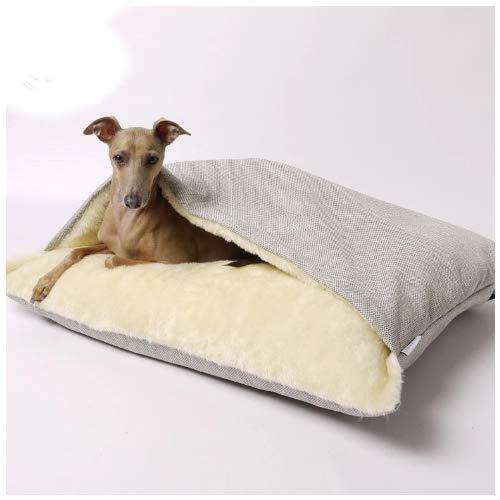 Hundebett / Hundehöhle - Das kuscheligste Bett für Ihren Vierbeiner (Hellgrau)