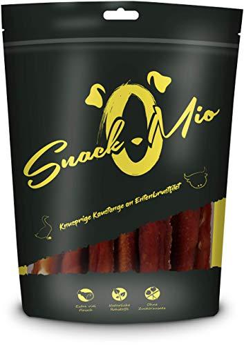SnackOMio Knusprige Kaustange an Entenbrustfilet Premium Kausnack für Hunde, 70 g, 1er Pack (1 x 0.07...
