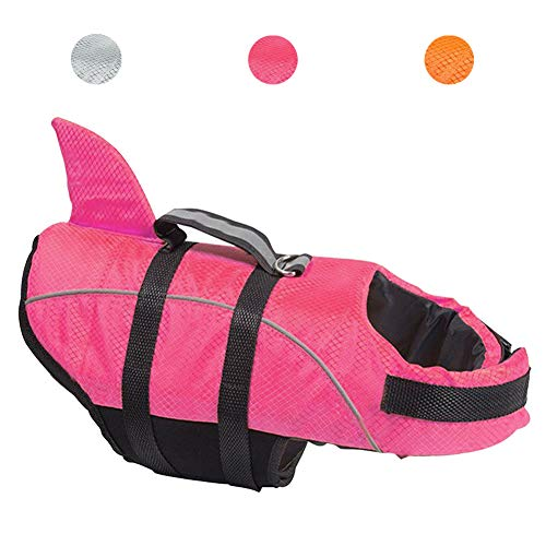 Avanigo Schwimmweste für Hunde, Hai-Motiv, XS, rose